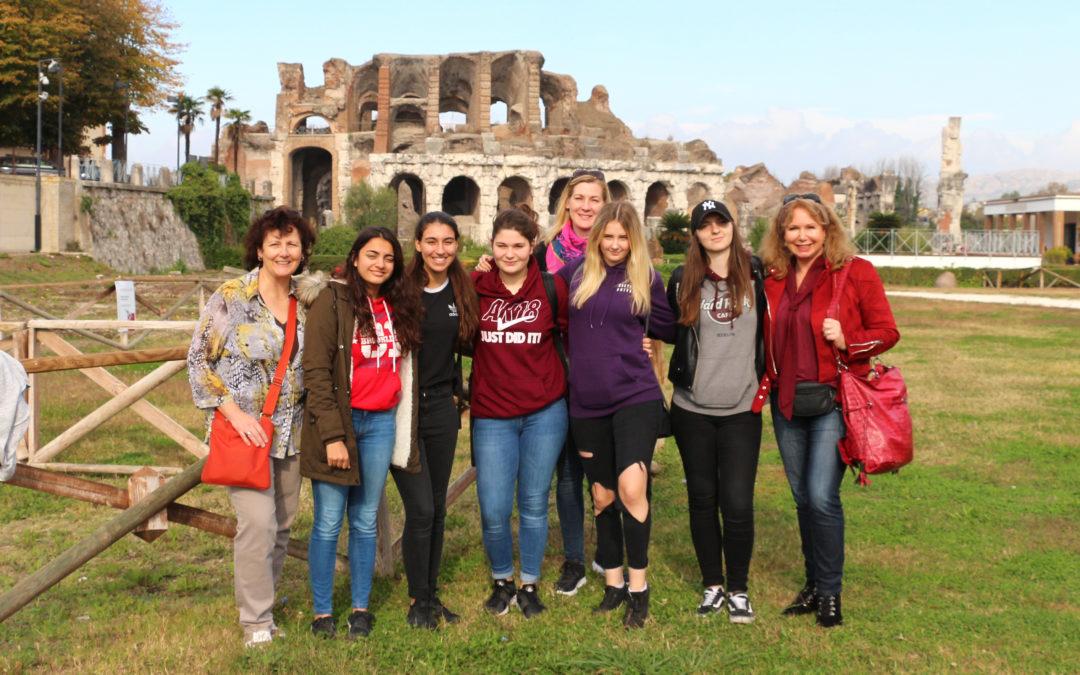 Besuch  der  ERASMUS+- AG der MLKG in Aversa (Italien) vom 09.11.2017 – 15.11.2017